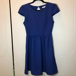 dELiA*S blue fit and flare dress
